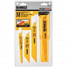 Полотна для сабельной пилы (набор=13шт) Dewalt dwafv413set