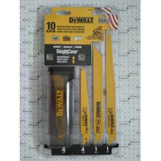 Полотна для сабельной пилы (набор=10шт) Dewalt dw4898