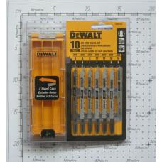 Пилки для лобзика (набор=10шт) Dewalt dw3741c